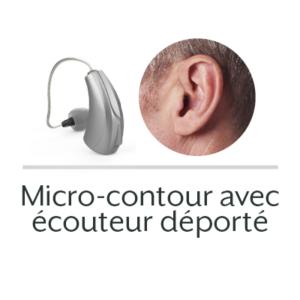 maitre audio Micro-contour avec écouteur déporté aide auditive appareil auditif prothese auditive